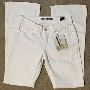 NWT Express Sarula White Jeans Size 4